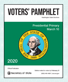 Image of Wasington State Presidential Primary Voter's Pamphlet