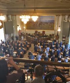 view of Montana House of representatives in session