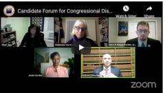 Candidate Forum for Congressional District #2 with candidates onscreen