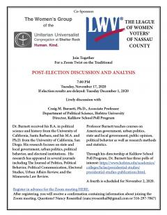 flyer for the post election