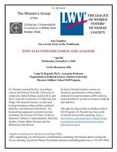Flyer for After the Election Discussion