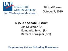 NYS Senate 5 October 7 2020