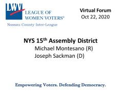 NYS Assembly 15  Candidates