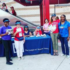 Voter registration table at Washington Nationals Stadium, 2018
