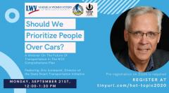Should we prioritize people over cars? A webinar on the future of transportation in the NCC Comprehensive Plan