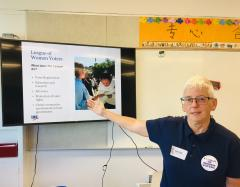 Peggy Graybill develops school civics content