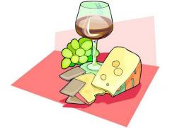 image of wine and cheese