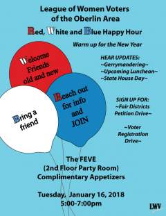 Red, White and Blue Happy Hour