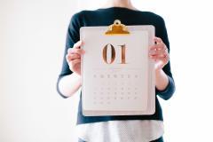 Women holding calendar