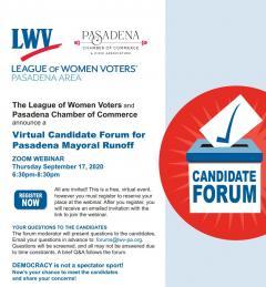 Candidate forum Pasadena Mayor