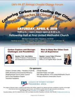 LWV PA Climate Change Forum Flyer 040619