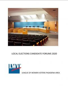Candidate Forum Flyer 2020 Pasadena Area