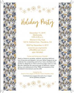 LWV-PA Holiday Party Dec 2019