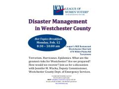 Disaster Management in Westchester County