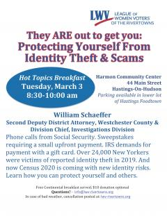 Hot Topics Breakfast: Protecting Yourself from Identity Theft and Scams