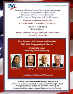 16th Congressional District Candidate Forum