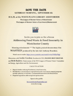 Food waste and insecurity in Westchester