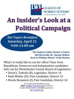 Insider's Look at a Political Campaign