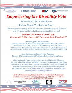 Empowering the Disability Vote