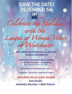 League of Women Voters of Westchester Holiday Board Meeting and Luncheon