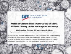 LWVSB Forum on COVID in Santa Barbara County