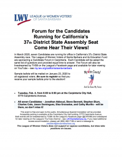 37th District Forum