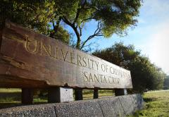 UC Santa Cruz campus sign