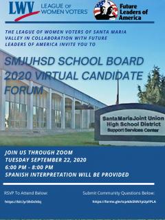 SMJUHSD Virtual Candidate Flyer (English version)