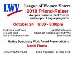 2018 LWV South Bend Friend-Raiser