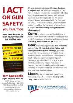 Flyer for Gun Safety Talk