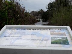 urban wetlands sign
