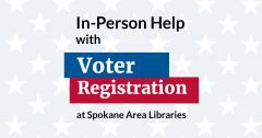 In person registration at libraries