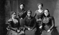 a portrait of African American suffragists