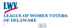 Logo of the League of Women Voters of Delaware