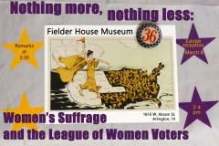 Fielder House Museum Exhibit for 100th Anniversary