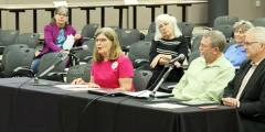 Nancy Stevens delivers testimony to the Texas House Redistricting Committee