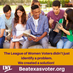 Beatexasvoter.org graphic with students