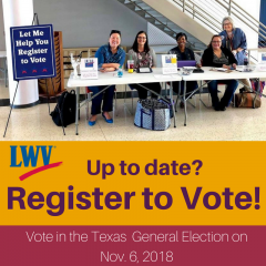 LWV fort bend registering voters