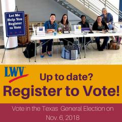 LWV fort bend registering voters