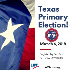 Texas Primary Election March 6, 2018