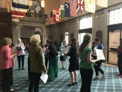 LWVW at Naturalization Ceremony in Lowell, MA