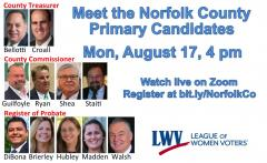 Meet the Candidates - Non Sheriff MA Primary Candidates