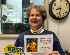 Leslie Wallstrom on KRSN Radio 20200110 re-EssayContest.