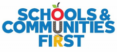 Logo for the Schools & Communities First initiative