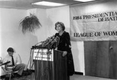Vintage Photo of a League member behind a podium