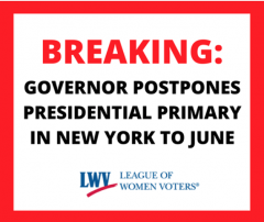 NYS Presidential Primary Postponed