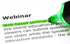 Webster Dictionary definition of webinar