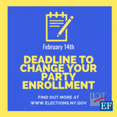 February 14th is the deadline to change your party enrollment