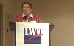 LWVNCC Forum Moderator Carole Walsh, March 2019