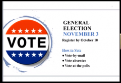 General Election November 3 - How to Vote